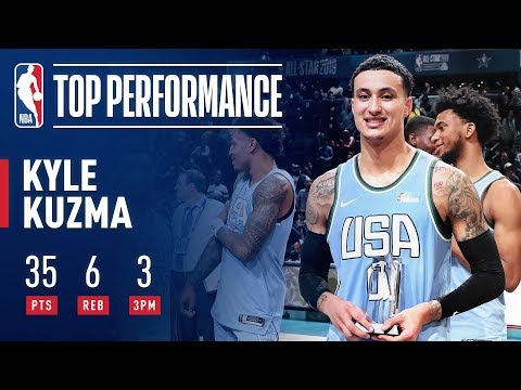 Кузма – MVP матча восходящих звёзд НБА