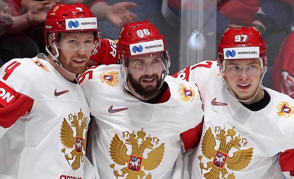 Россия победила Латвию в матче ЧМ-2019 и досрочно вышла в четвертьфинал