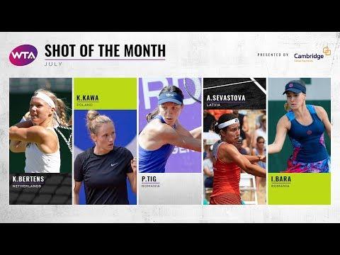 Объявлены кандидаты на звание лучшей теннисистки июля