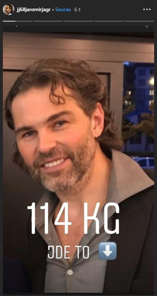Ягр сбросил вес со 121 до 114 килограмм