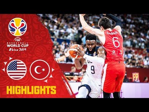 Видео: обзор тяжелейшей победы сборной США над Турцией на Кубке мира — 2019